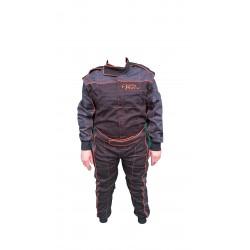 Combinaison GOOD RACE 100% coton Noir/ gris