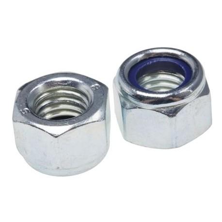 Ecrou nylstop avec anneau polyamide auto freiné