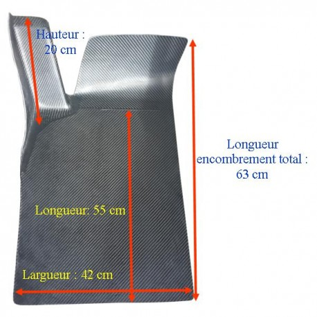 Repose pied pilote polyester LONG