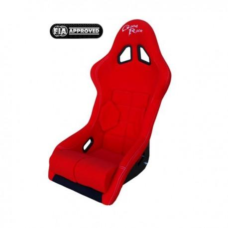 siège bacquet FIA GR2 tissu rouge