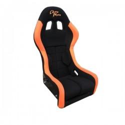 siège bacquet FIA GRTS tissu noir/orange