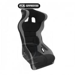 siège bacquet à oreilles FIA noir/gris