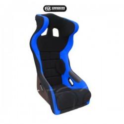 siège bacquet à oreilles FIA noir/bleu