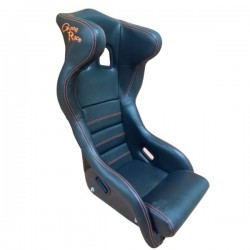 siège bacquet à oreilles FIA noir VINYL