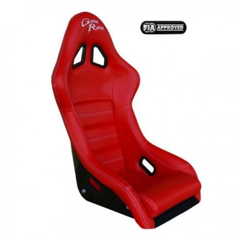 siège bacquet FIA GR1 vinyl rouge