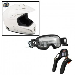 Pack Casque Cross + lunette BUZZ Junior + hans