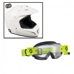 Pack Casque Cross + lunette Hustle