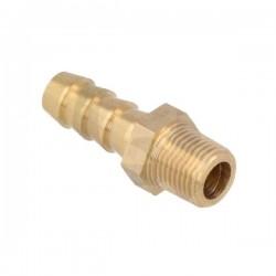 Raccord droit 10mm - 1/4 NPT mâle laiton