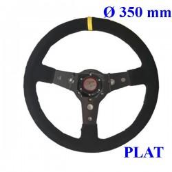 volant 1er prix ø350mm plat avec klaxon