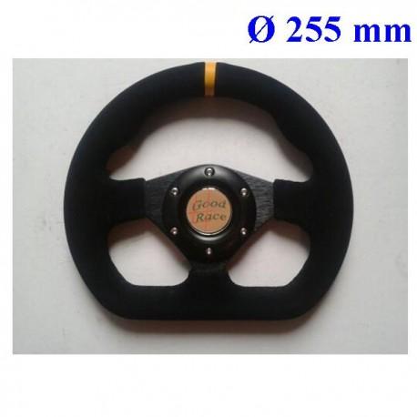 volant Type formule 255mm 3 branches plat noir