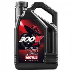 Moto 300V 4T 15W50 4 L Huile moteur MOTUL