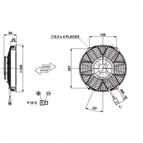 Ventilateur aspirant ø 225 haute-capacité