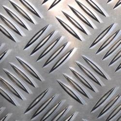 Tôle alu striée format 1250 x 70 mm