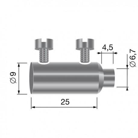 Serre câble double pour câble jusqu'à 3 mm
