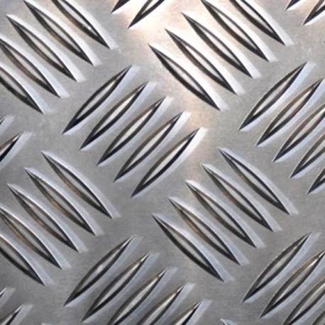 Tôle alu striée format 400 x 105 mm