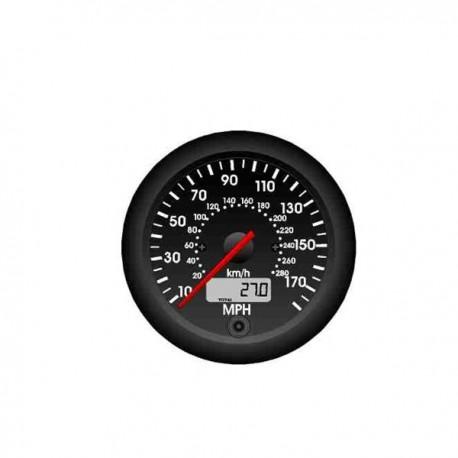 Compteur de vitesse ø80 miles/kmh