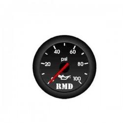 Jauge pression d'huile 0-100 psi Mécanique