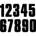 Numéro noir de 0 à 9 adhésif - 17 cm