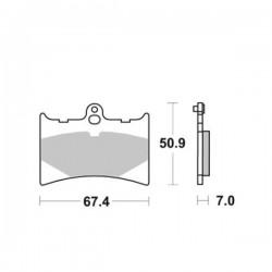 Plaquette de frein moto SBS601 HF