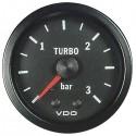 Mano de pression de turbo 0-3 bar VDO Cockpit Vision ø52
