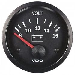 Voltmètre 8-16V VDO Cockpit Vision ø52
