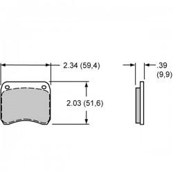 plaquette de frein Etrier WLD 19 2 pistons