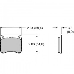 plaquette de frein WILDWODDE 5310 Etrier WLD 19 2 pistons