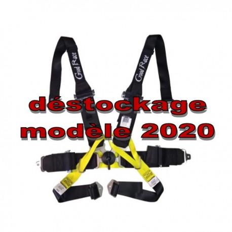 """déstockage Harnais FORMULA FIA 2020 6 points 3""""/2"""" spécial HANS"""