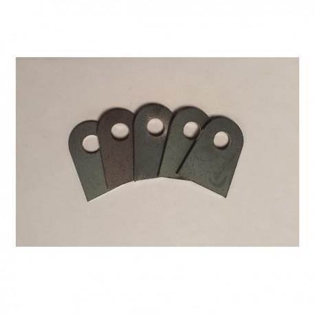 Support plat à souder 25x32 ép 2mm