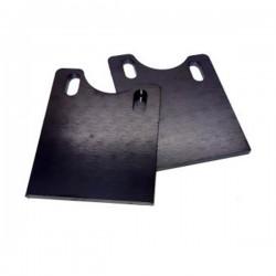 Support acier 5mm pour crémaillère alu taille masse cnc