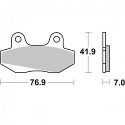 Plaquette de frein moto VD-103HF