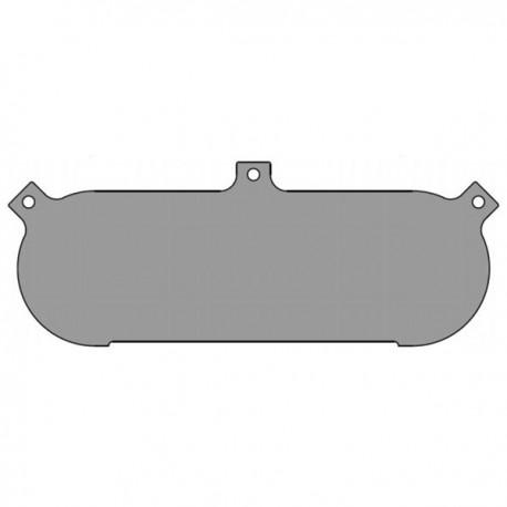 Plaque brute alu non percée 9JC40 379mm x 142mm
