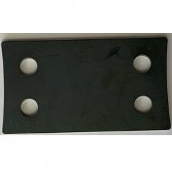 Plaque à souder en acier pour barre stabilisatrice