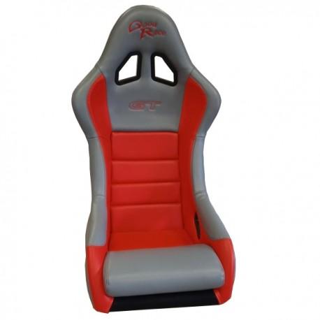 siège bacquet FIA Good Race GT vinyl gris/rouge