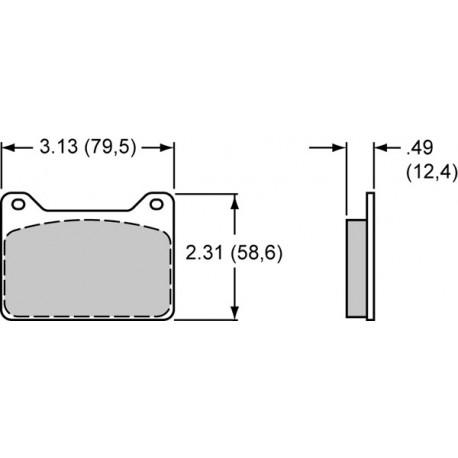 Plaquette POWERLITE 4 pistons WILWOOD