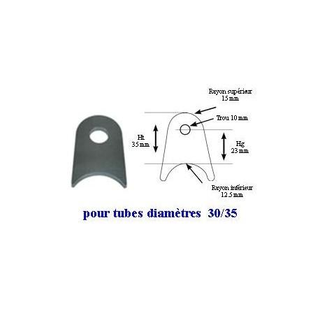 Support à souder pour tube 30/35mm Hg23