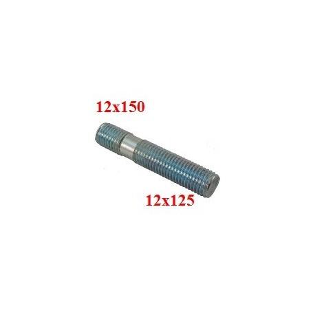 Goujon Filetage moyeu 12x150 et écrou 12x125