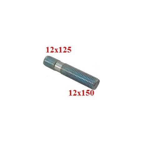 Goujon Filetage moyeu 12x125 et écrou 12x150