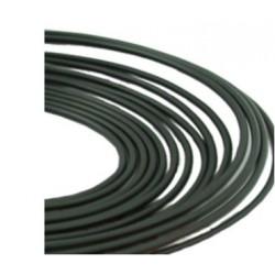 Tuyau acier recouvert PVC noir 6.35 mm