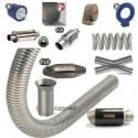Echappements, silencieux, tubes inox à souder, accessoires et pots catalytiques