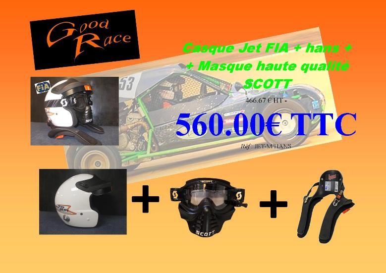 les packs casque FIA GOOD RACE