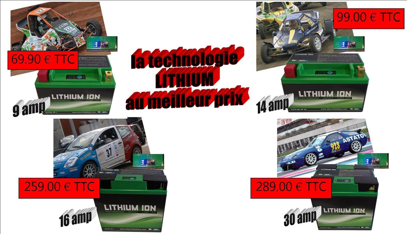 Batterie LITHIUM au meilleur prix